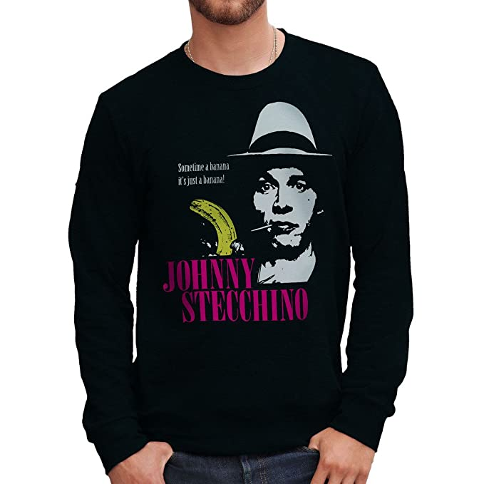 Felpa Girocollo JOHNNY STECCHINO - FILM by Mush Dress Your Style:  Amazon.it: Abbigliamento