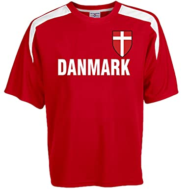 c47c2cd623d Customized Denmark Soccer Jersey Adult Small in Scarlet Red and White