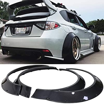 Kyostar New School 4Pcs 800mm Universal Car Fender Flares Wheel Arches (Carbon Fiber Look): Automotive