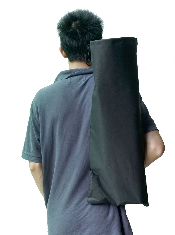 Cooplay Black Small Penny Banana Skateboard Backpack Mini Carry Bag 22 27 600D Nylon Longboard Board Handbag Straps