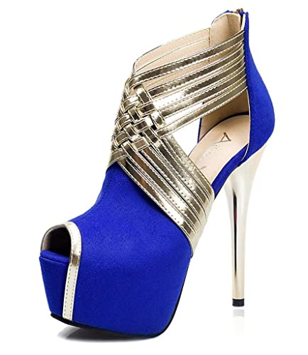 SZXC Womens Shoes Hollow Out Flange Cub Sexy Hin Thin Stiletto Heel Heels Peep  Toe