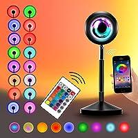 Sunset lamp Projection App Smart Control Sunset Light Music Sync Color Changing Rainbow 180° graden rotatie met Remote…