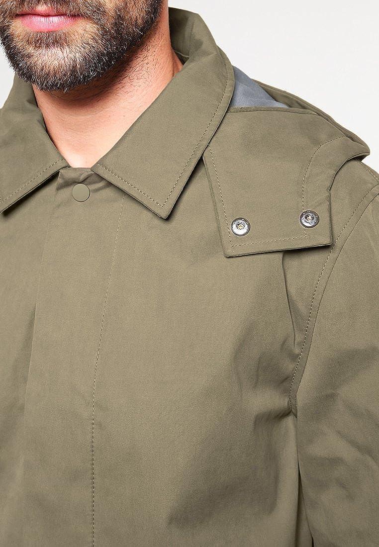 Pier One – Abrigo corto para hombre, liso, color azul marino o ...