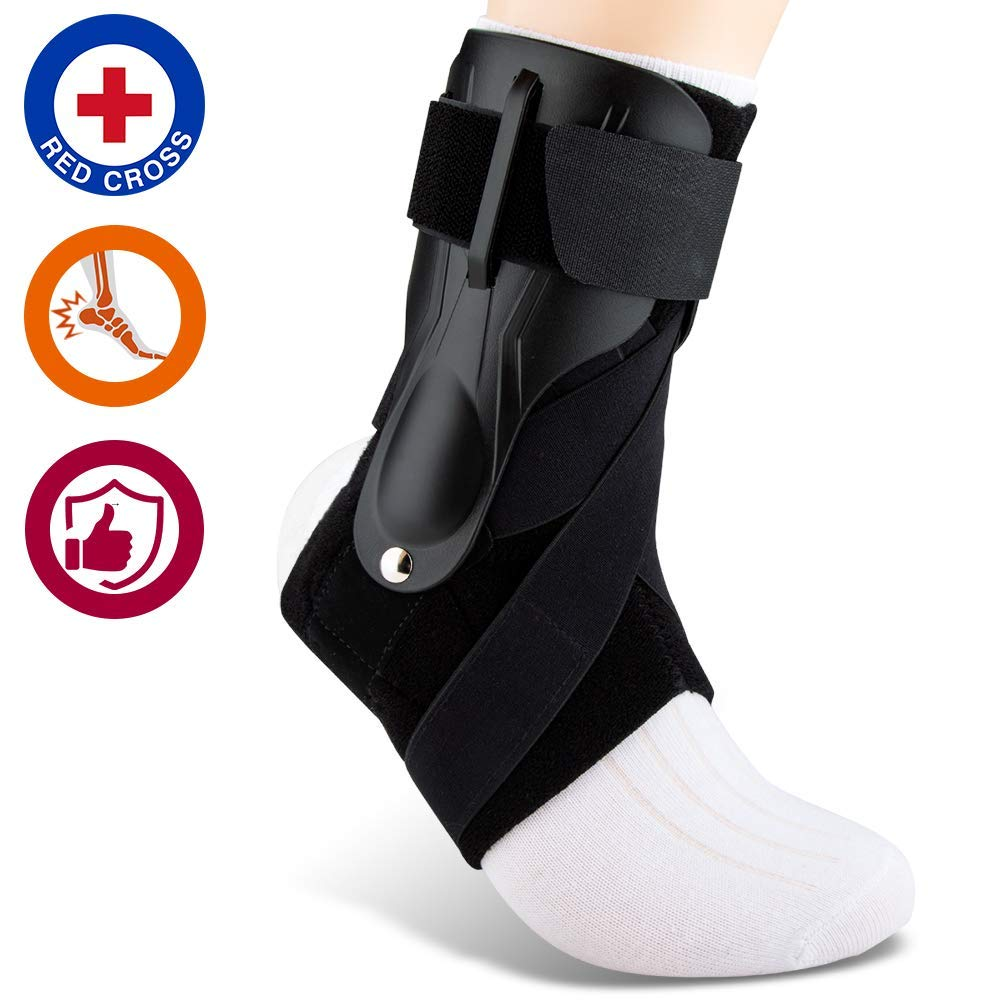 SNEINO Ankle Brace,Lace Up Ankle Brace for Women,Ankle Brace for Sprained Ankle,Ankle Supports for Women,Kids,Ankle Braces for Basketball,Volleyball Ankle Braces (One Size, Strengthen)