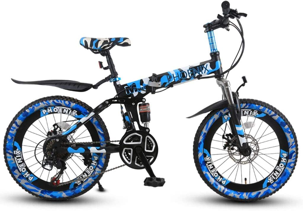 Bicicletas Triciclos Infantil De 20 Pulgadas Montaña Plegable Viaje Al Aire Libre Los Estudiantes Van A La Escuela Adecuado para Niños