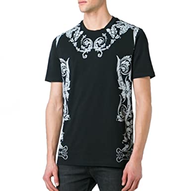 28ed29ed Amazon.com: Versace Collection Baroque Print Tee, Black ($250): Clothing