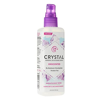 Crystal Mineral Deodorant Spray, Unscented, 4 0 oz (Pack of 6)