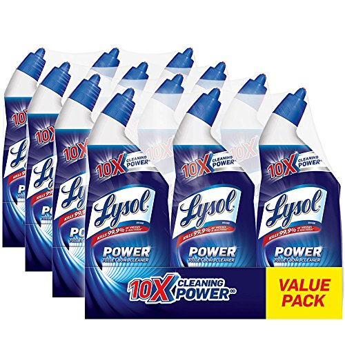 Lysol Power Toilet Bowl Cleaner, 288oz (4X3x24oz), 10X Cleaning Power by Lysol