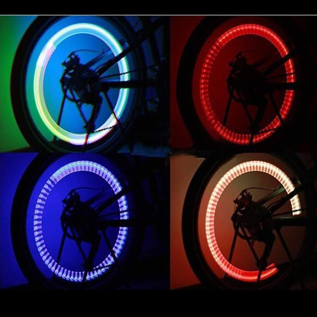callm Night Light 7Color Bike Decoration LED Light Bicycle Accessories Tire Lamp 2 pcs by callm (Image #4)