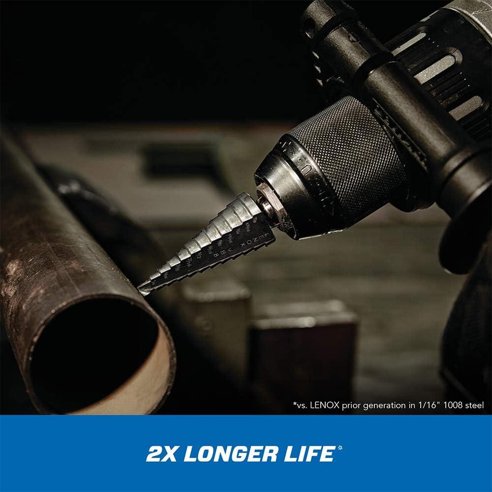1-1//8-Inch and 1-7//32-Inch Step Drill Bit with 3//8-Inch Shank Lenox 30909-VB9 Vari-Bit 7//8-Inch