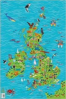 Children's Wall Map Of The United Kingdom And Ireland por Steve Evans epub