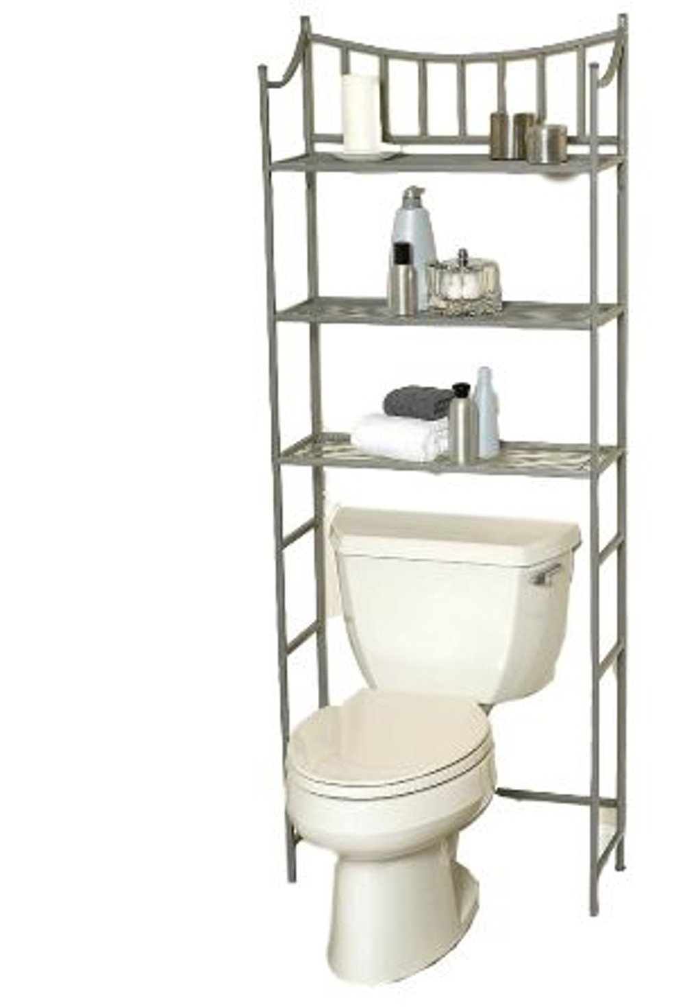 Over Toilet Storage Rack,Bathroom,Space Saver Cupboard Open Shelves Home Indoor Furniture Store Organizer & Ebook by Easy 2 Find.