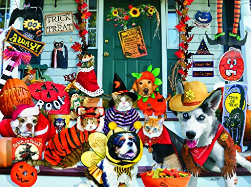Halloween Costume Contest 1000 pc Jigsaw Puzzle -Halloween Pets theme- by (Jigsaw Puppet Halloween)