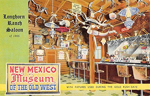 Moriarty New Mexico Longhorn Ranch Saloon Rt 66 Antique Postcard K79755 (Longhorn Ranch)