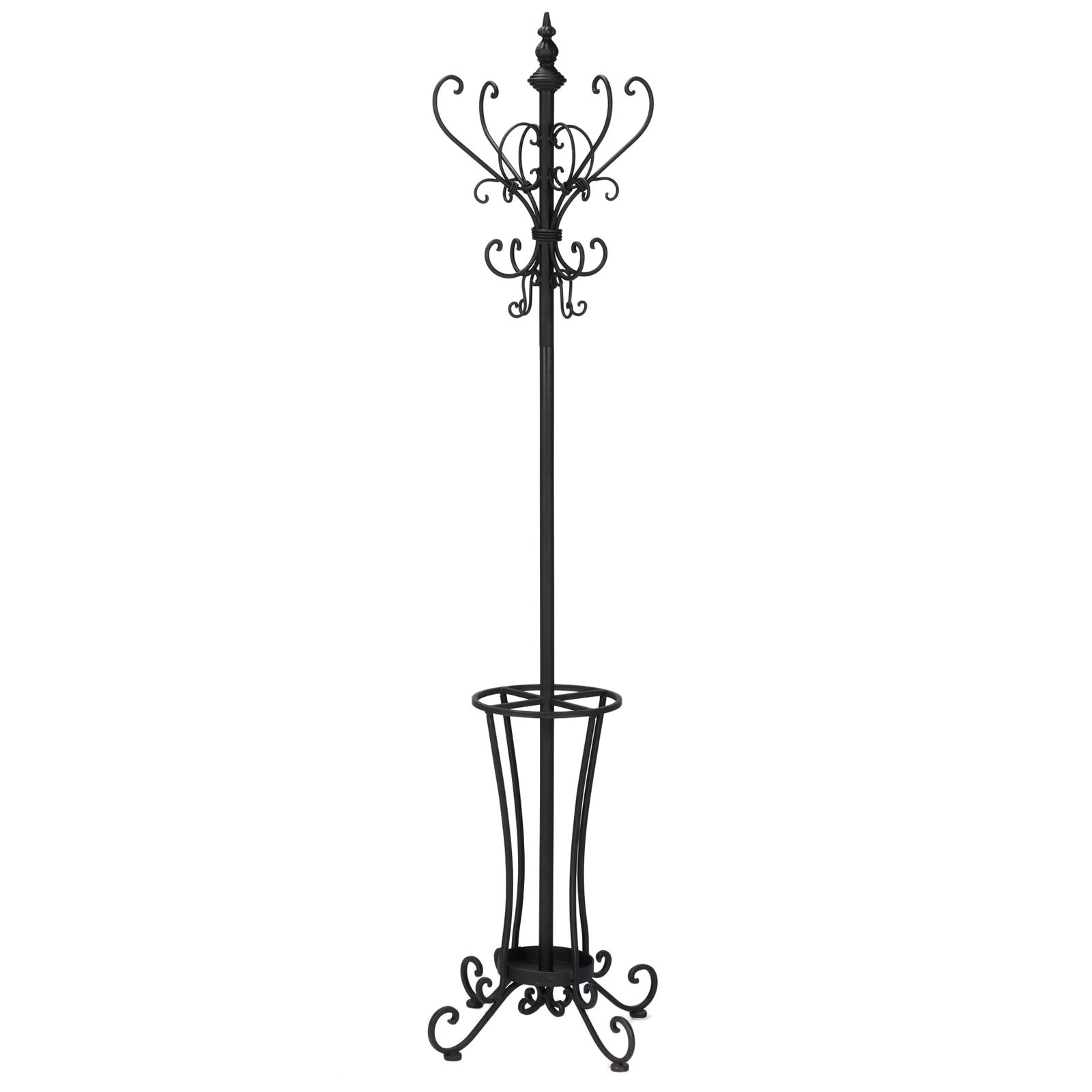 Southern Enterprises Rustic Metal Scroll Hall Tree 71'' Tall, Black Finish by Southern Enterprises, Inc.