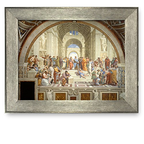 Framed Art The School of Athens by Raphael Famous Painting Wall ...