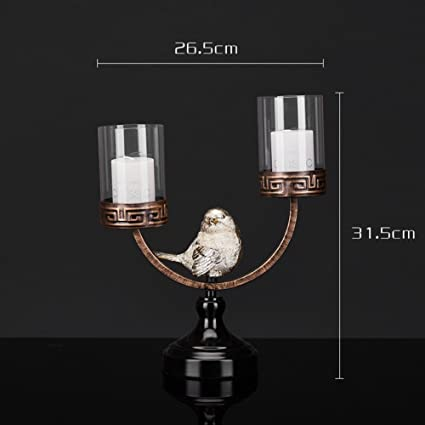 Amazon household candle holderdecoration candlestick holders household candle holderdecoration candlestick holders modern chinese wedding ornaments crafts birds living room creative junglespirit Gallery
