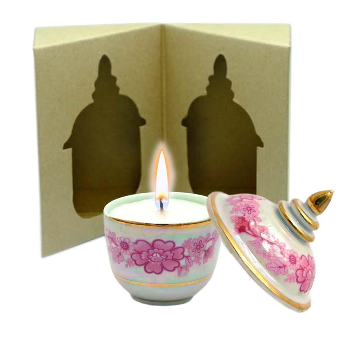 C'Lite Shea Butter Massage Candle 1.5 Oz In Thai Porcelain - Oriental Blend