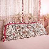 Korean bed big cushion Sofa [cotton] Two-person long pillow Pillow Korean head back-I diameter100cm(39inch)