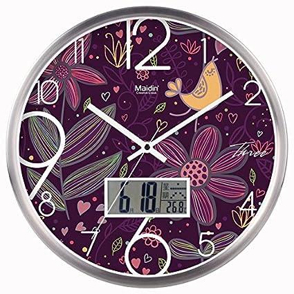 Komo silencioso Moderno Decoración Adorno para Hogar Arte Creativo Reloj de Pared Reloj de Cuarzo de