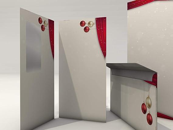 Juego de papel de carta de Navidad Noche de Sagrada, 20 hojas de papel diseño A4 y 20 sobres: Amazon.es: Oficina y papelería