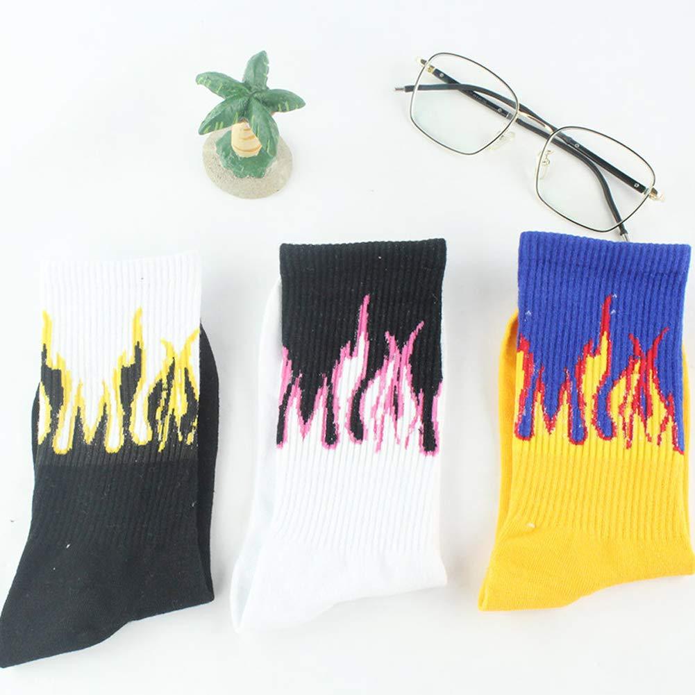 RENNICOCO Moda Unisex Casual Hip Hop Calcetines Calcetines de Skate Patr/ón de Llama Algod/ón