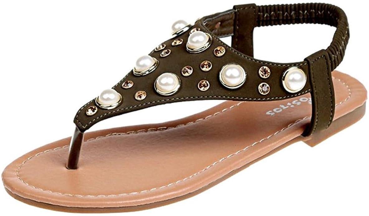 Chaussures de /Ét/é Sandales /à Talons Sandales Chaussures Bout Ouvert Chaussures Basses Sandales Romaines Pantoufles pour Dames Boh/ême Talons Bas 2018 LUCKYCAT Sandales pour Femme
