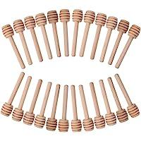 Fastar 24pcs Mini madera miel Dippers Sticks servidor
