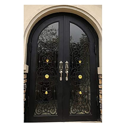 Simart Wrought Iron Doors Double Exterior Front Entry Double