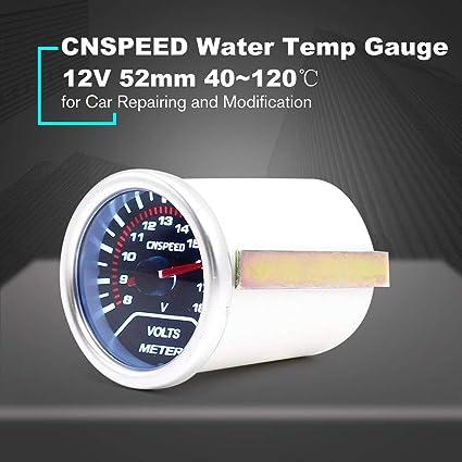Footprintse sensor temperatura;reloj coche CNSPEED 12V 120 ℃ Auto Car LED Medidor de temperatura