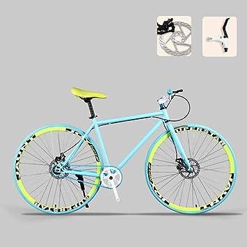 CSS Bicicleta de carretera, bicicletas de 26 pulgadas, freno de doble disco, cuadro de acero de alto carbono, carreras de bicicletas de carretera, hombres y mujeres adultos 7-2: Amazon.es: Bricolaje y herramientas