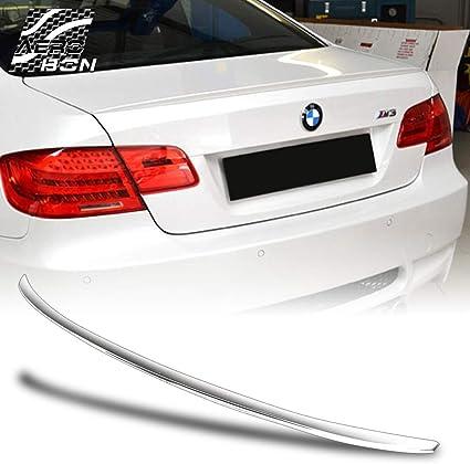 estilo M3 compatible con 06-13 E92 3-Series y M3 Aler/ón trasero de ABS para maletero de coche prepintado color blanco