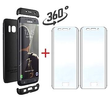 Compatible Samsung Galaxy S7 EDGE Funda(2018)Carcasa 360°ultra ...