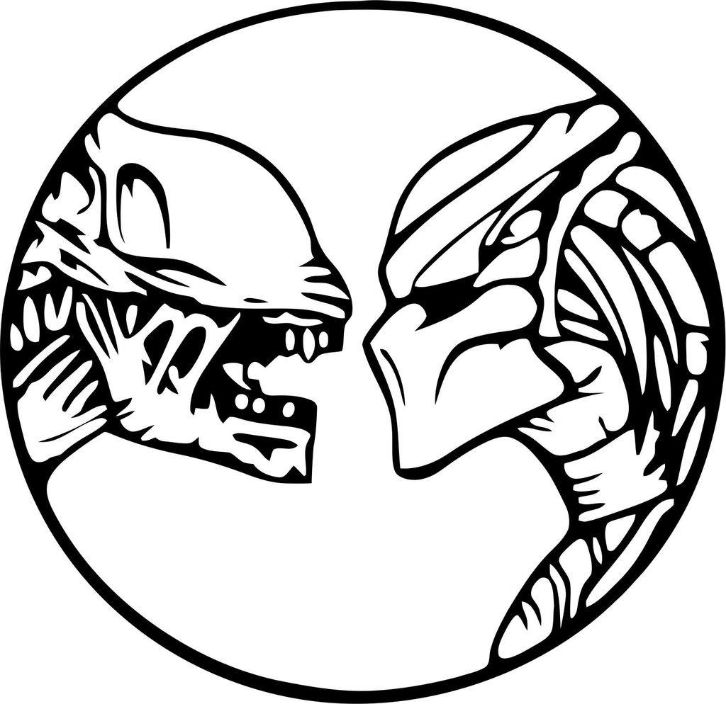 Bazinga designs alien vs predator vinyl die cut decal