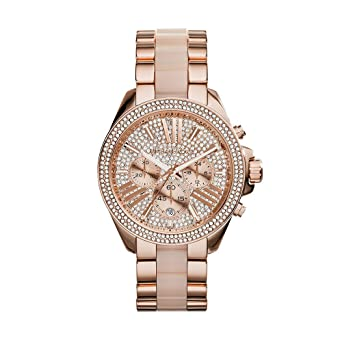 2461bede4cb7 Amazon.com  Michael Kors Women s Wren Two-Tone Watch MK6096  Michael ...