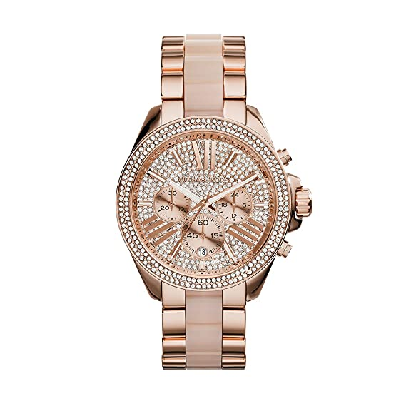 0655a1b45527 Amazon.com  Michael Kors Women s Wren Two-Tone Watch MK6096  Michael Kors   Watches