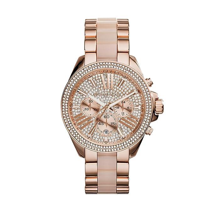 6f36fe8cbee9 Amazon.com  Michael Kors Women s Wren Two-Tone Watch MK6096  Michael Kors   Watches
