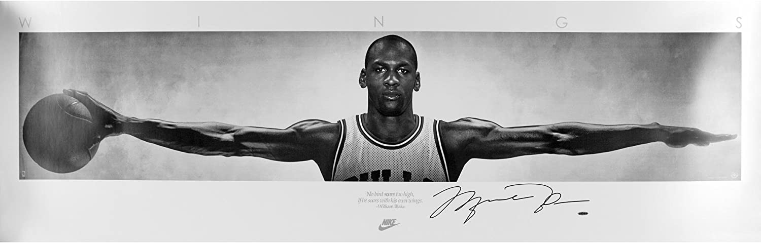 63b0c14b6c0 Michael Jordan Chicago Bulls Autographed 23'' x 72'' Wings Poster - Upper  Deck - Fanatics Authentic Certified at Amazon's Sports Collectibles Store