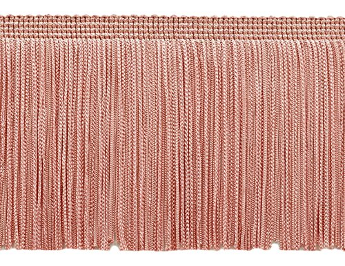 DÉCOPRO 11 Yard Value Pack of 4 Inch Long Chainette Fringe Trim, Style# CF04 Color: Light Rose Pink - 07 (33 Feet / 10M)