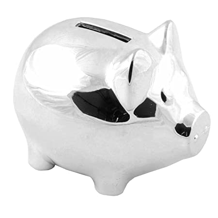 Christening Gifts. Silverplated Piggy Pig Money Box: Amazon.co.uk: Kitchen & Home