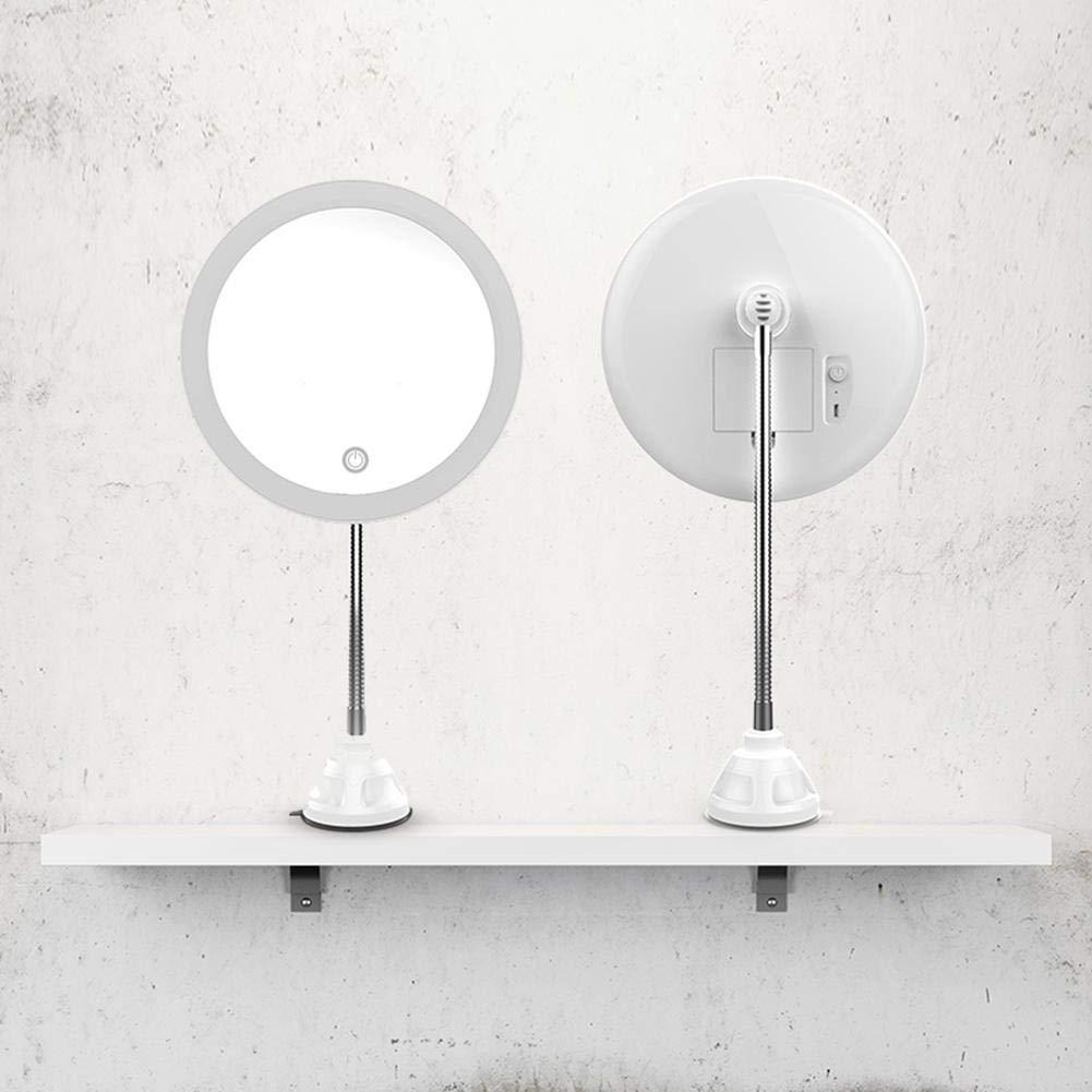 Miroir De Maquillage LED 10x Mag Flexi Avec Miroir De Salle De Bain Vanit/é /À Coude Flexible