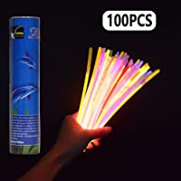 LeeHur - Paquete de 100 barras/pulseras fluorescentes