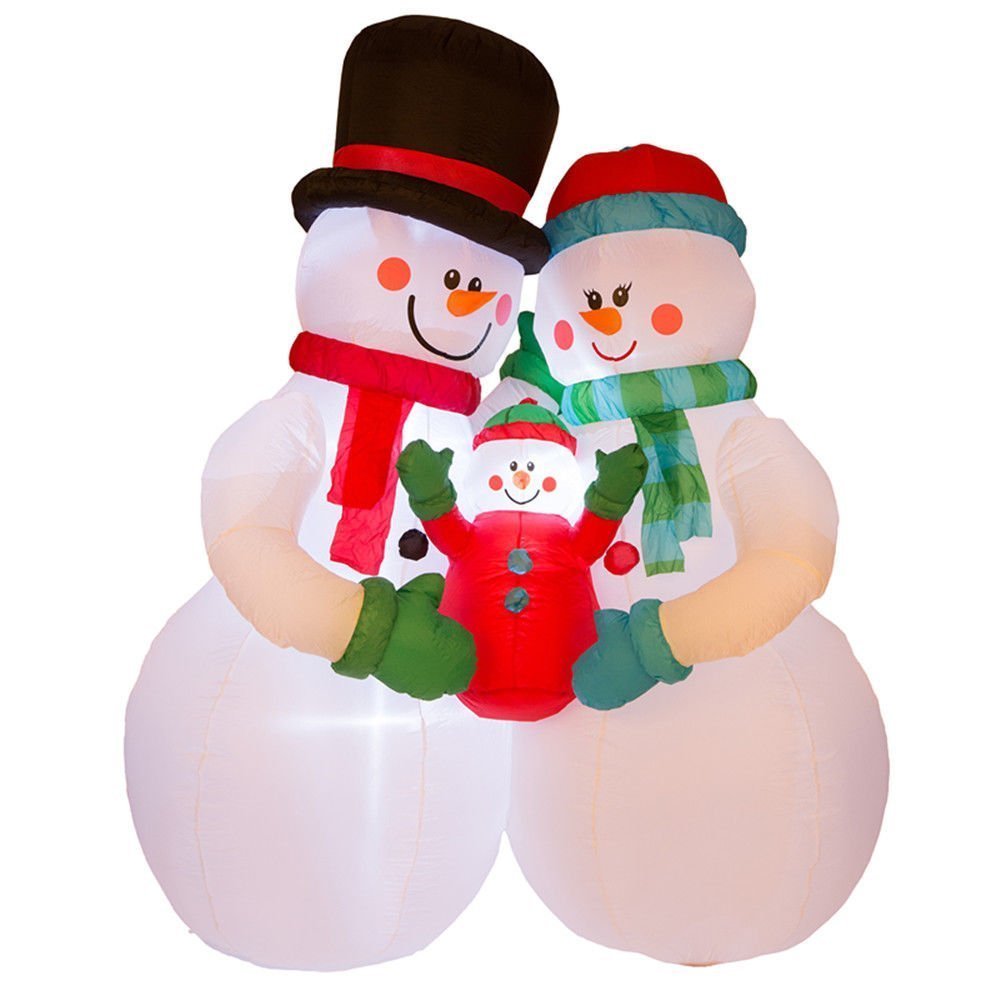 8FT LED Airblown Inflatable Snowman Family Christmas Holiday Yard Decorations