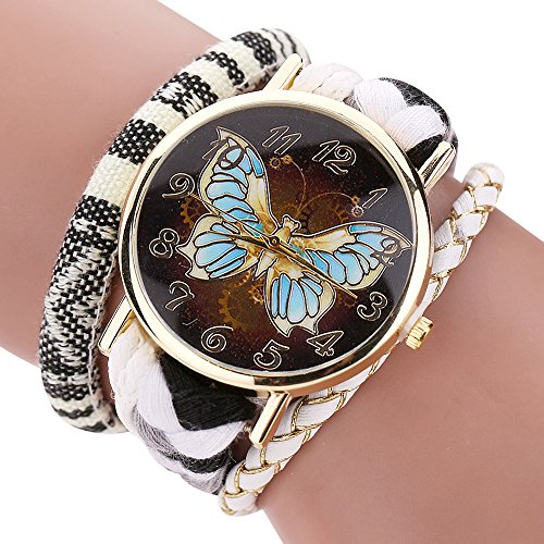 Inkach The Sleek Stylish And Chic Knit Bracelet Butterfly Watch Ladies Decorative (Chic Ladies Watch)