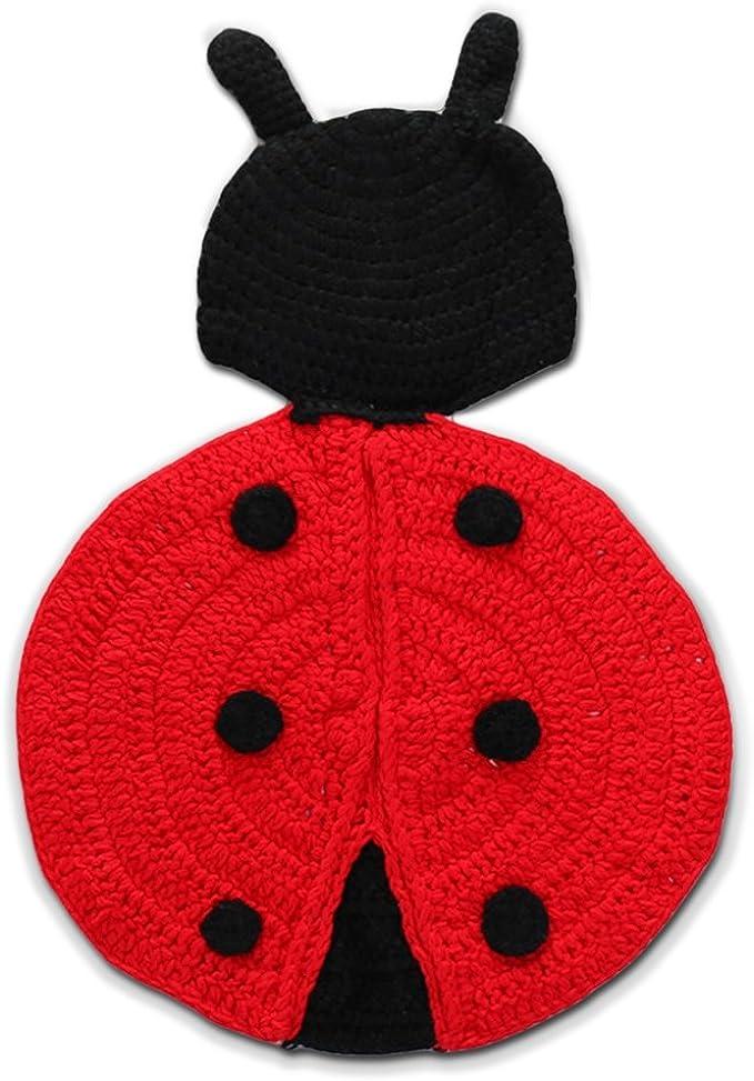 Amazon.com: youngate rojo Big Ladybug hecho a mano bebé ...