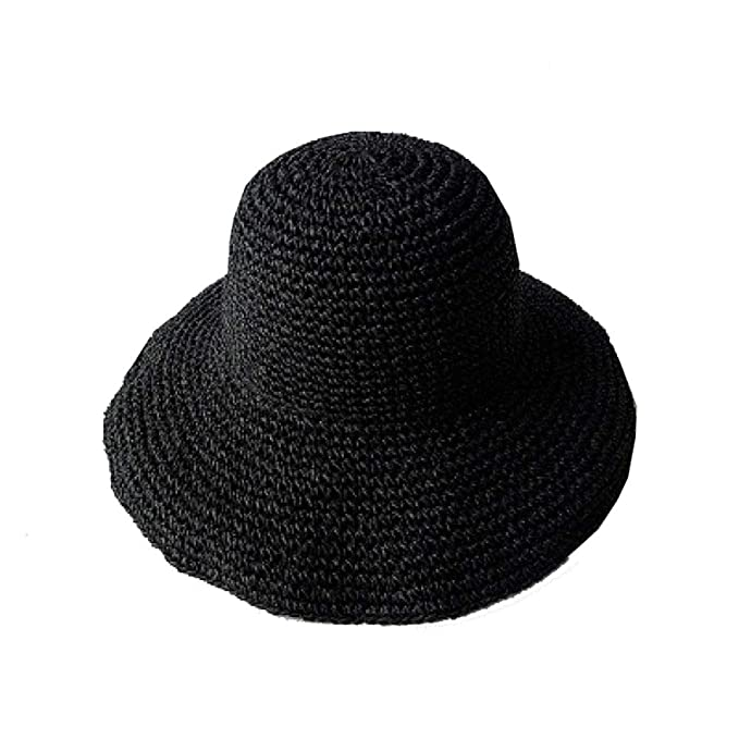 Sombrero De Paja Sombrero Grande Sombrero para El Sol Señora De Verano  Sombrero De Playa Sombrero Flexible Grande Plegable Sombrero para Niña 8e08de9e99f