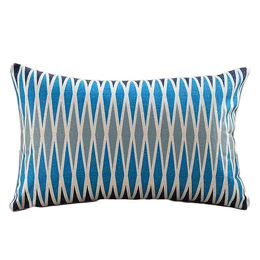 Fundas de almohada, tecla 11,8 x 19,7 lino y algodón ...