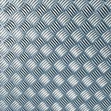 D c fix selbstklebefolie metallic riffelblech matt silber for Klebefolie metall