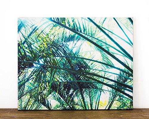 amazon com 16x20 palm tree canvas art tropical green ready to hang