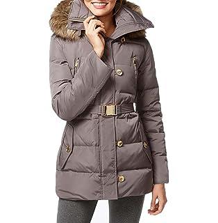 54742b10d Amazon.com: MICHAEL Michael Kors Womens 3/4 Faux Fur Hood Snap: Clothing